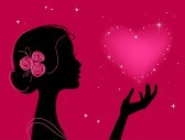 Beautiful-woman-silhouette-with-star-heart