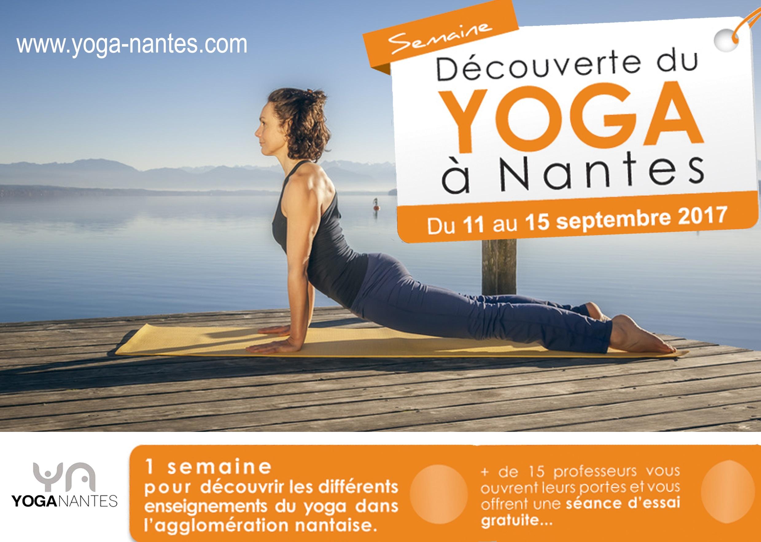 semaine découverte du Yoga à Nantes 2017